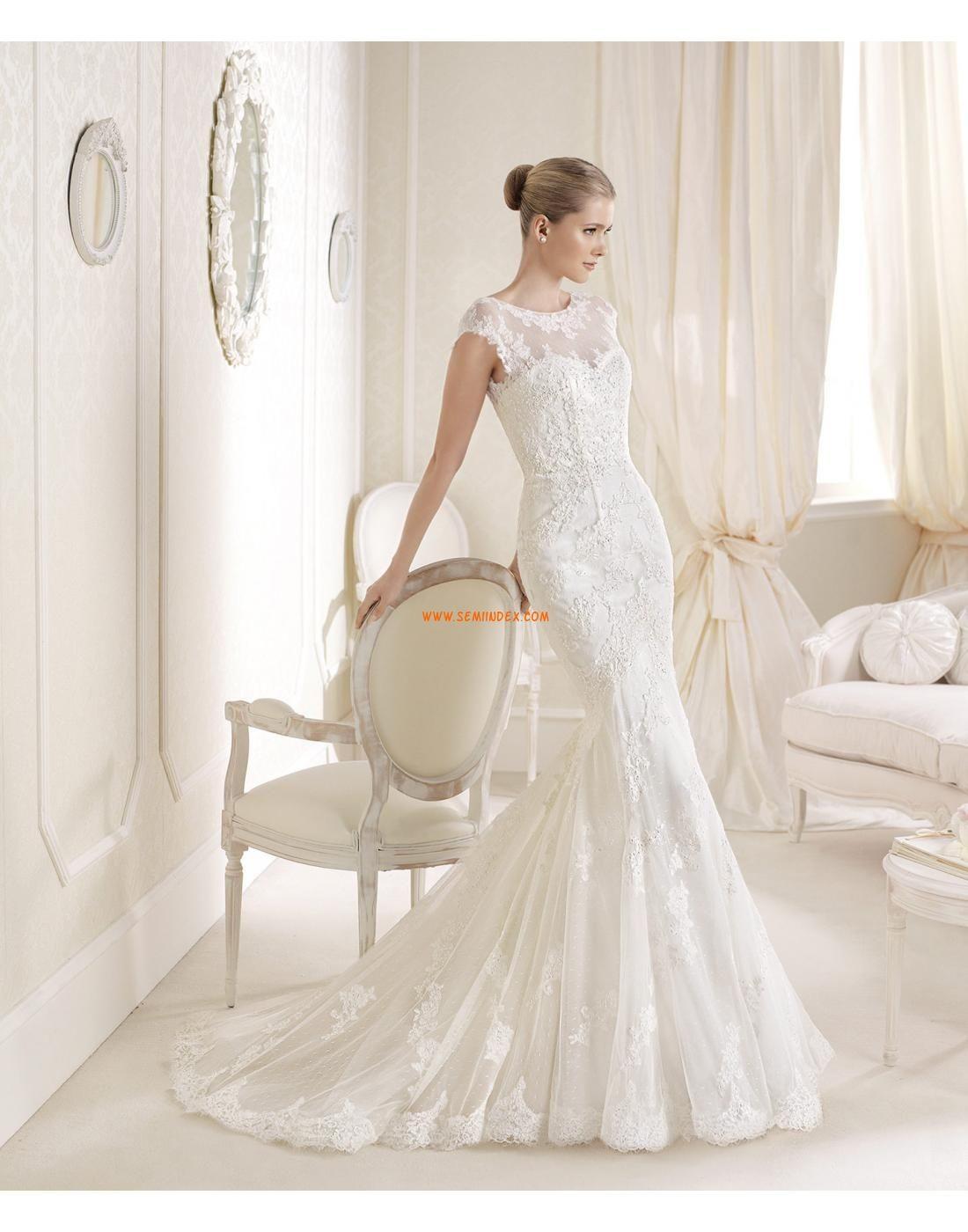 c2043366c704 Spets Elegant & Lyxig Kort ärm Lyx Bröllopsklänningar