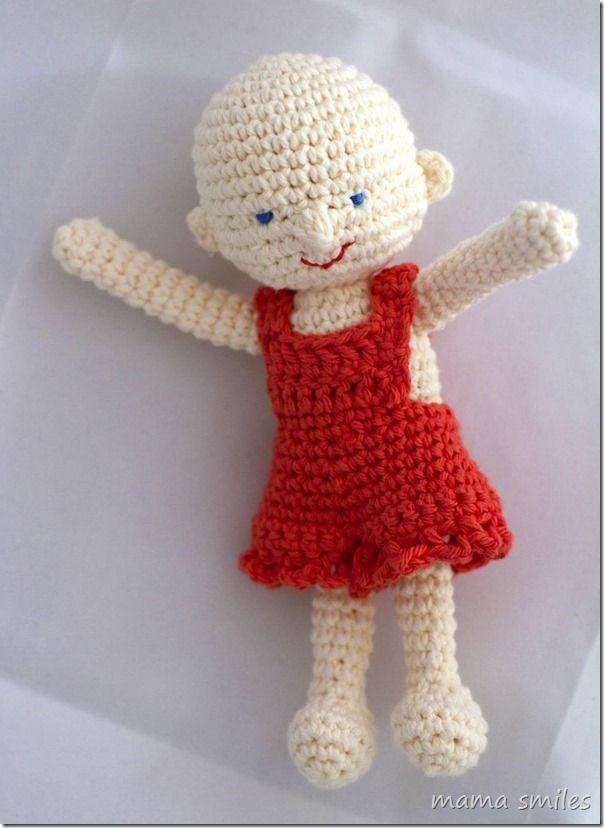 Crochet Doll Overall Shorts Pattern: The Girly Version | Tejido ...