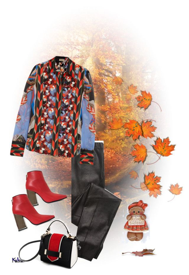 """Falling leaves"" by gagenna ❤ liked on Polyvore featuring Splendid, Emilio Pucci, Lunares, emiliopucci, zara and laceblouse"
