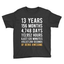 13th Birthday Shirt / Birthday Countdown / Of Being Awesome / Thirteenth Birthday / 13 Years Old / Girls and Boys T-Shirt