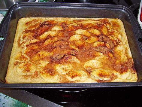 Apfelpfannkuchen aus dem Ofen #homemadesweets