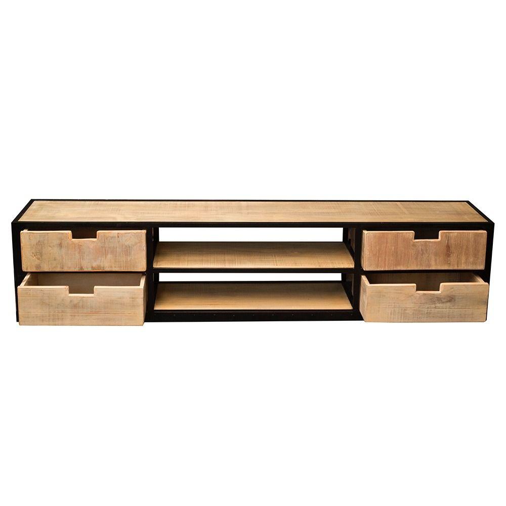 Mueble De Tv Rustico Madera Y Hierro 22458 Mla20231025103_012015 F  # Muebles Pipa Aguirre