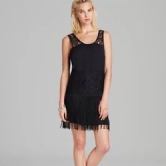 149deeca168 Nwt free people great gatsby dress size 2 Nwt Free People dress. Lace and  fringe. Black. Size 2 Free People Dresses Mini
