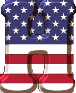 Ch B Estados Unidos Bandera De Usa Alfabeto Monograma Alfabeto