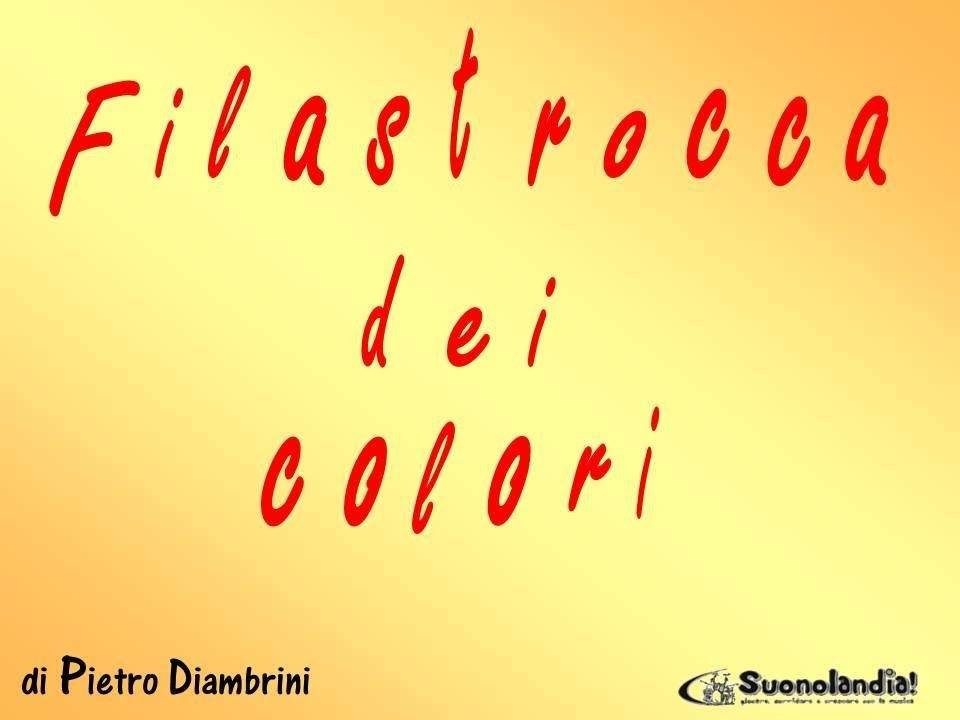 spesso FILASTROCCA DEI COLORI - Canzoni per bambini di Pietro Diambrini  WK74