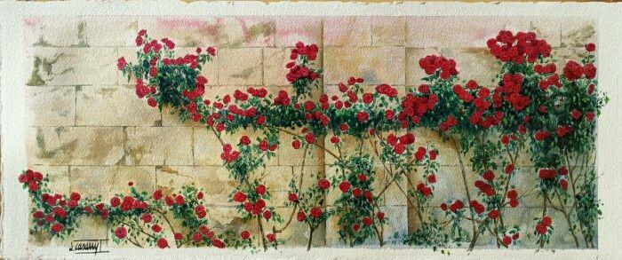 Rosers...aquarel.la sobre paper