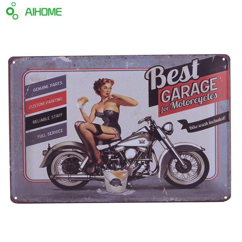 Vintage Tin Signs Classic Motorcycle Retro Iron Plate Painting - Classic motorcycle custom stickers