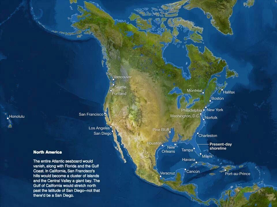 Us Map If Ice Caps Melt What North America will look like if all the ice melts. Sorry