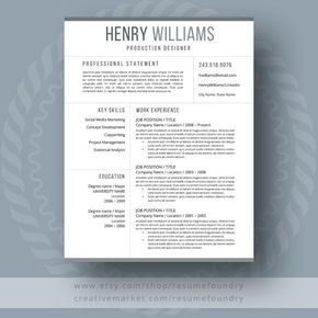 Simple And Classy Resume With  Pages Cover Letter And