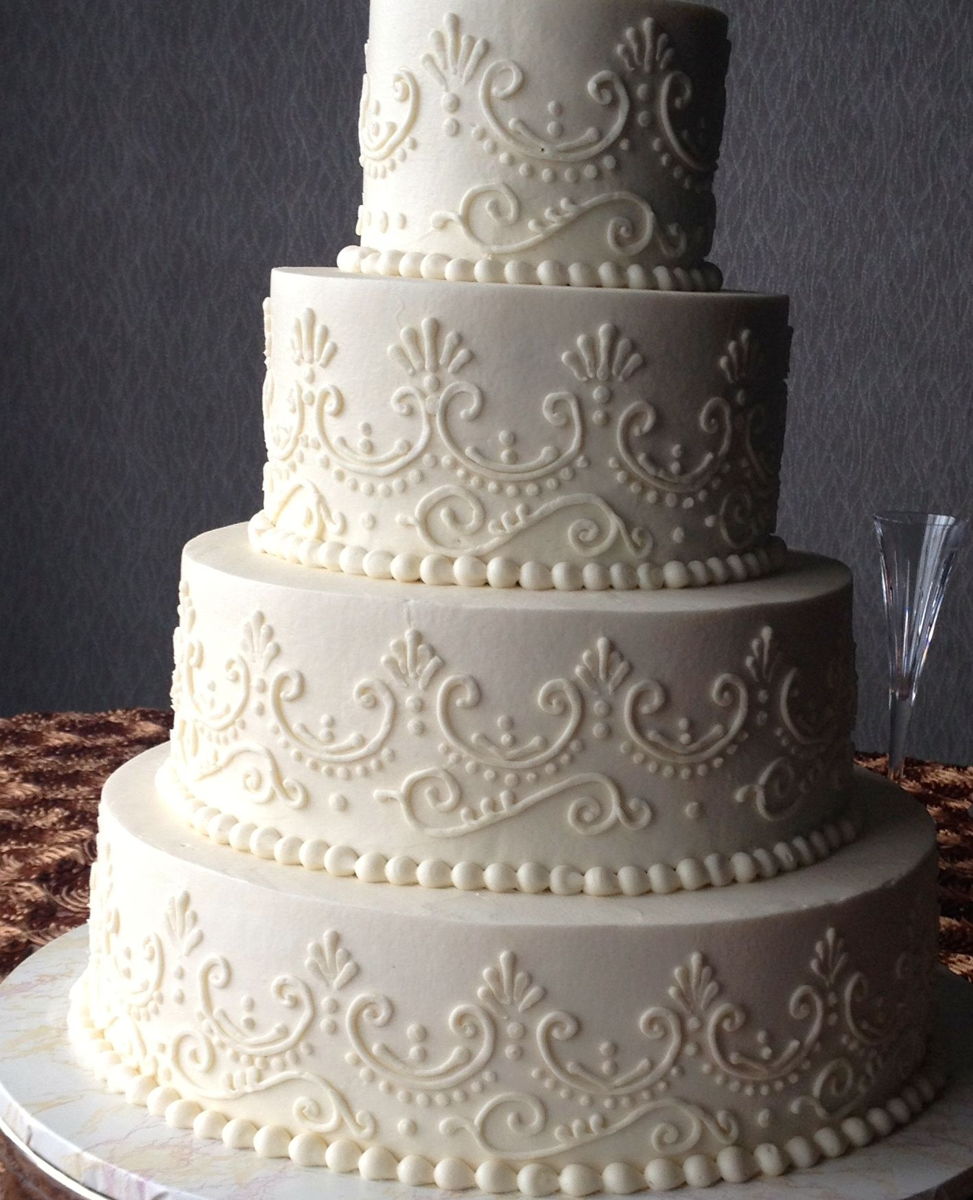 Wedding Cakes Inspired By China Patterns: Wedding Cake Simple Buttercream