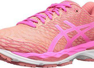 Asics Women S Gel Nimbus 18 Running Shoe Peach Melba Hot Pink Guava 11 M Us Asics Asics Gel Asics Sneaker