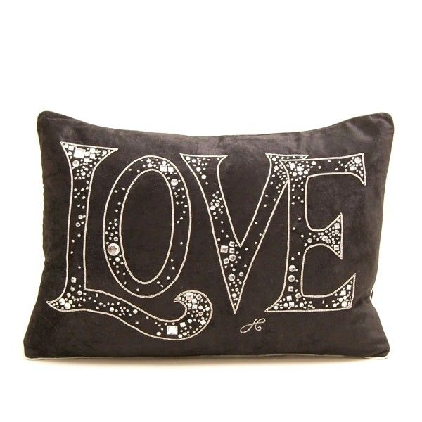 Luxe Diamante Velvet Love Pillow, So Beautiful, Sharing Hollywood Luxury Lifestyle Home Decor Inspirations & Gift Ideas Courtesy Of InStyle-Decor.com Beverly Hills Luxe Designer Furniture & Interiors Enjoy & Happy