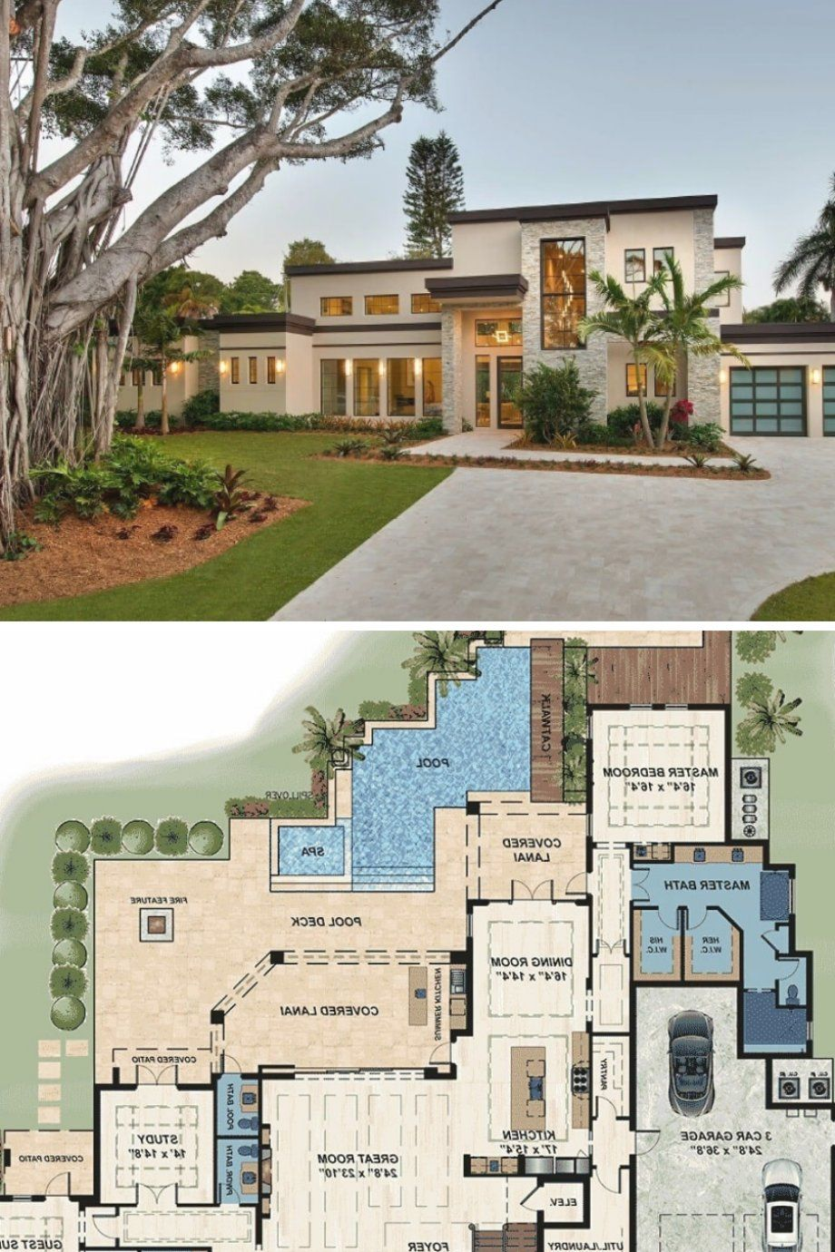 Pin By Jainsheral On Drawings In 2020 House Floor Plans Florida Home Modern Architecture House