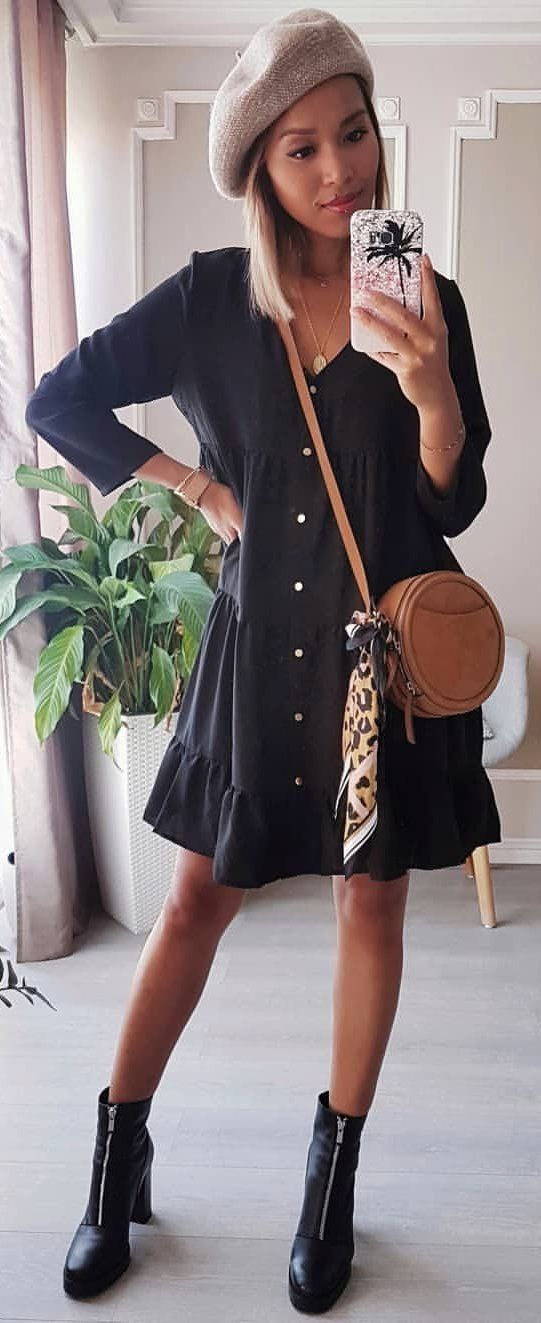 10+ Preppy Fall Outfits To Wear Now: black dress.  | YourOutfitIdeas.com #outfit #fashion #style - #churchoutfitfall 10+ Preppy Fall Outfits To Wear Now: black dress.  | YourOutfitIdeas.com #outfit #fashion #style - #churchoutfitfall