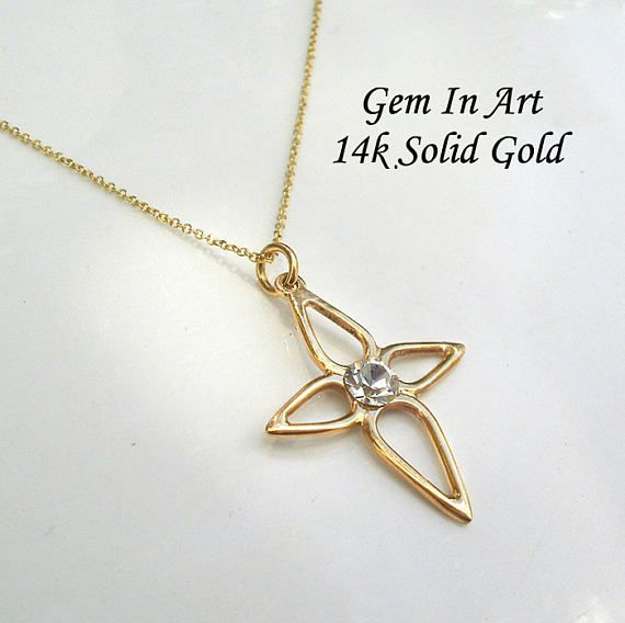 Solid gold cross necklacedainty gold cross pendantsimple small solid gold cross necklacedainty gold cross pendantsimple small crossreligious cross mozeypictures Image collections