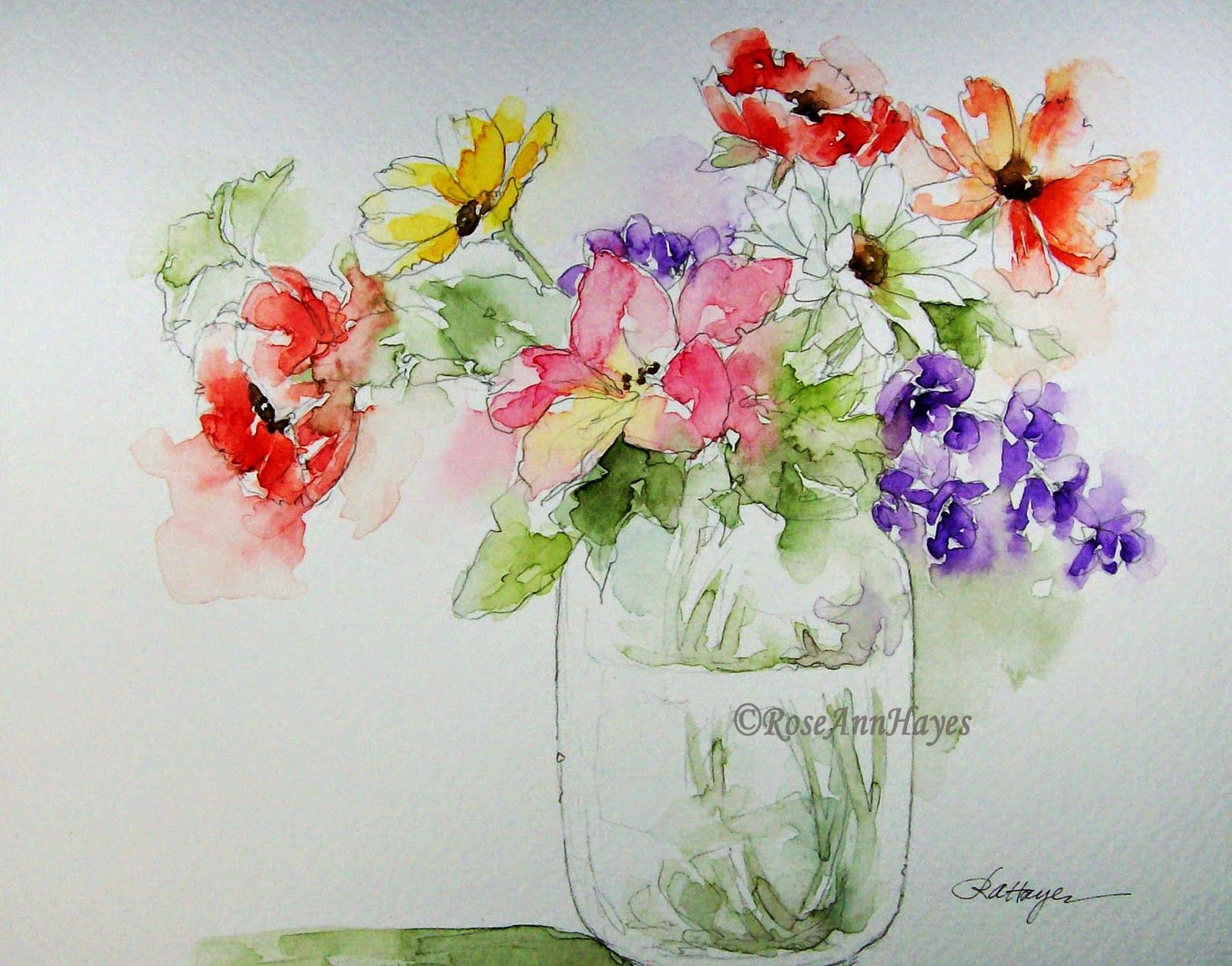 Watercolor Paintings By Roseann Hayes Avec Images Aquarelle