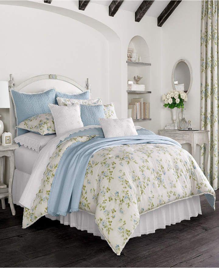 Rosalie Piper Wright Blue California King Comforter Set Bedding