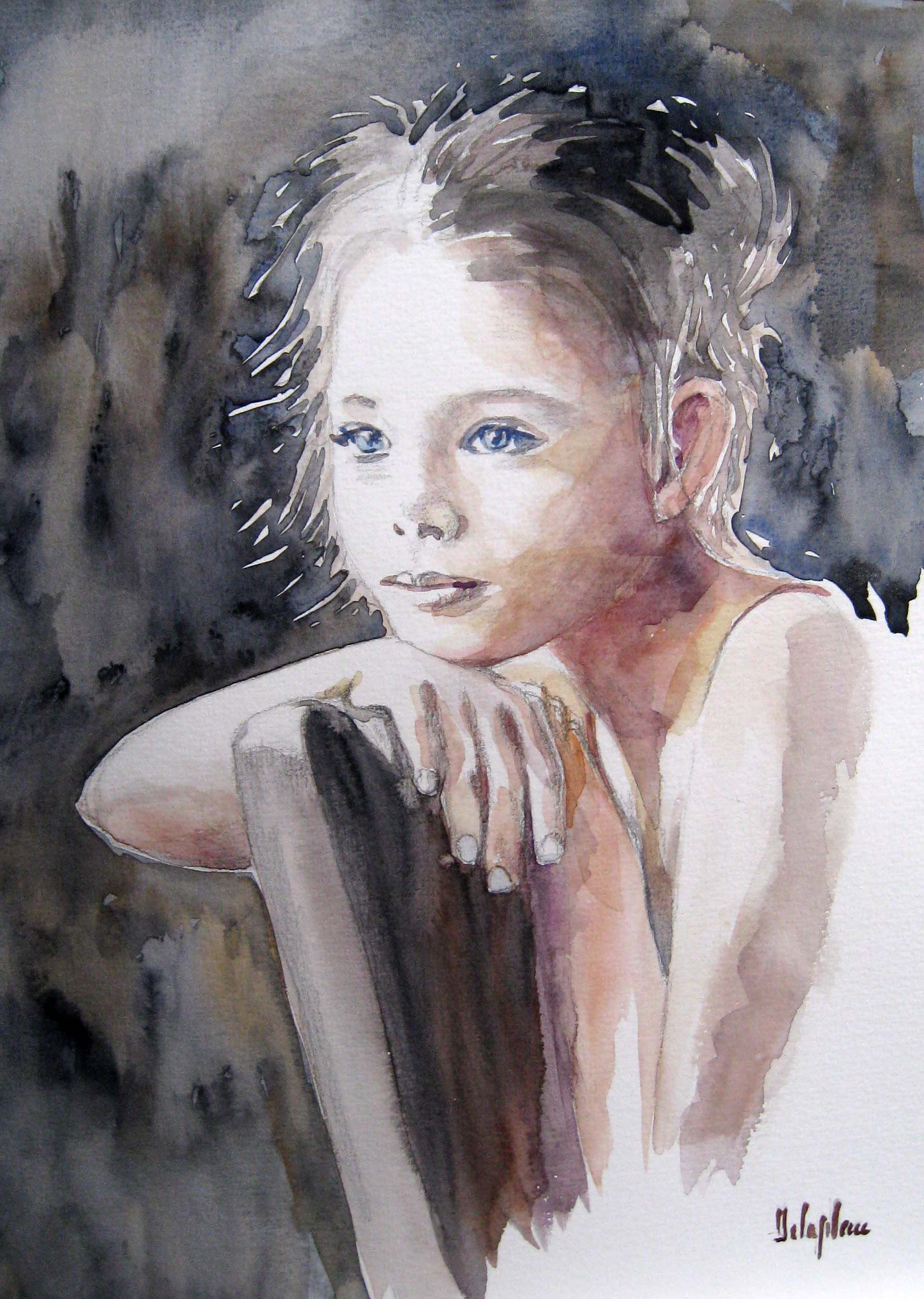Epingle Par Armelle Delaplace Sur Portraits En Aquarelle