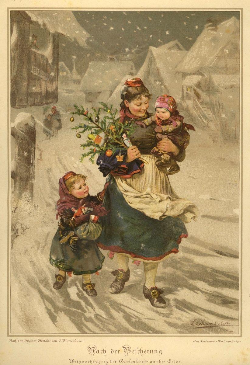 Weihnachten, nach der Bescherung, Schwalm 1885 | Christmas ...