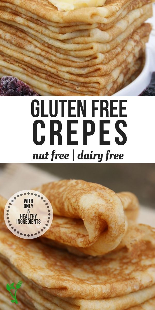 Made with cassava flour, these delicate Grain-Free French Crêpes are free from gluten and grains and can be easily made with 5 ingredients in the blender. Enjoy them savory or sweet. | Prepare & Nourish || #grainfree #glutenfree #dairyfree #crepes