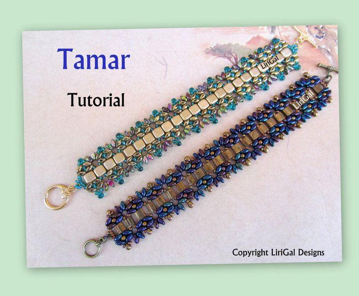 Tamar Superduo&Tila Beadwork Bracelet Tutorial from Lirigal by DaWanda.com