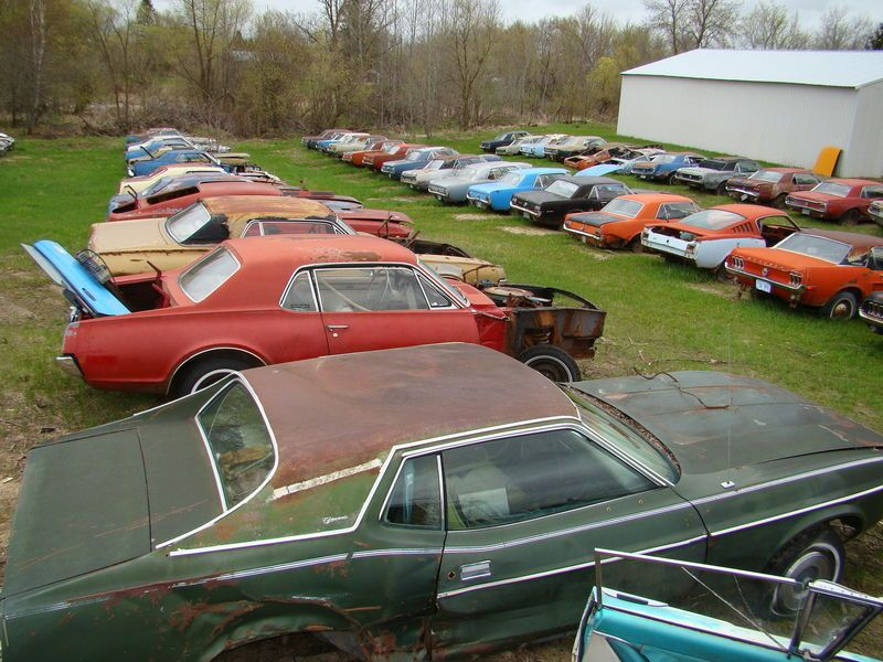 Huge Mustang Junk Yard for Sale 03 | Lost In Time: Classic Cars ...