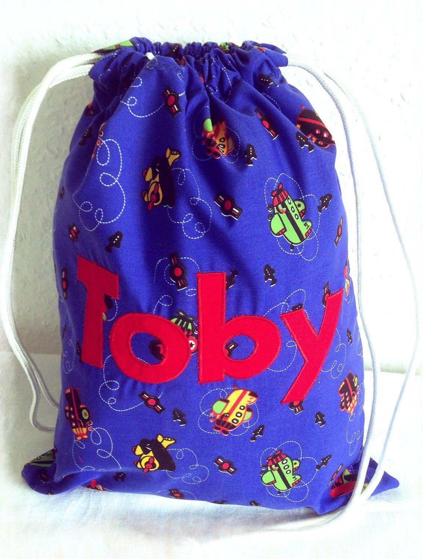 Children S Personalised Bag Drawstring Pe Backpack Swim School