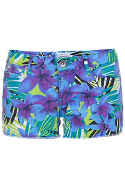 Blooming Flowers Print Shorts