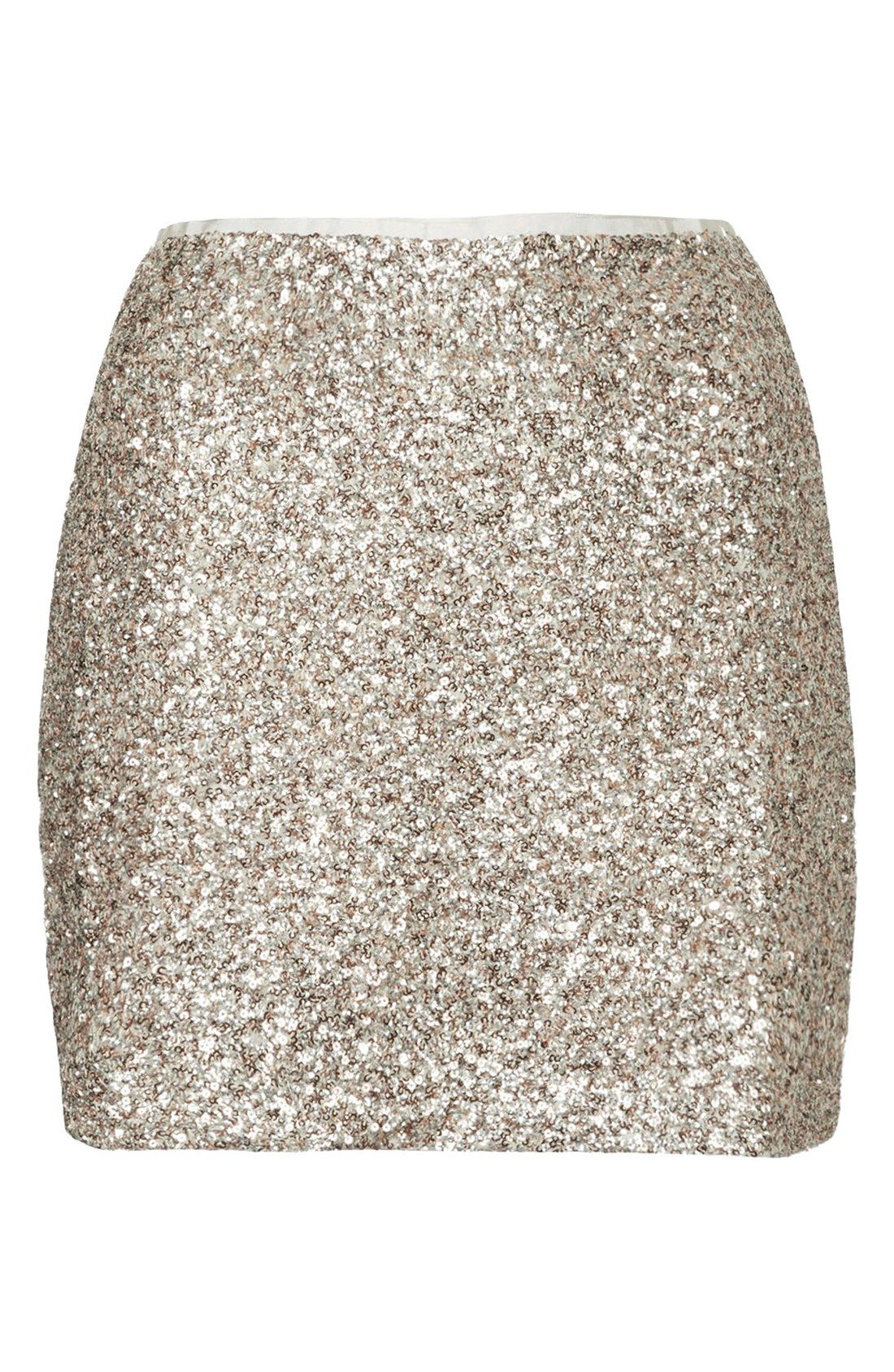 Love this sequin Topshop skirt!