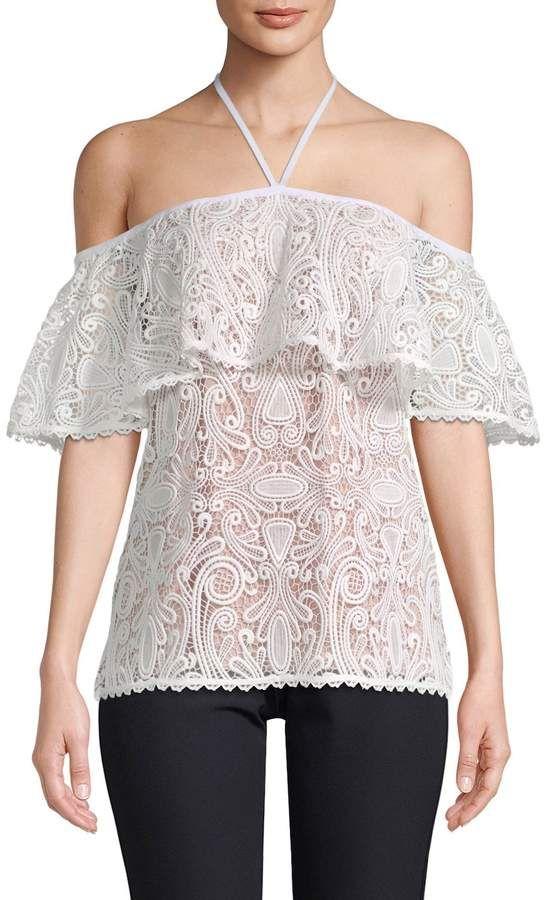 c7ce8fec Alexis Women's Isa Floral Lace Off-Shoulder Top | Fashion in 2019 ...
