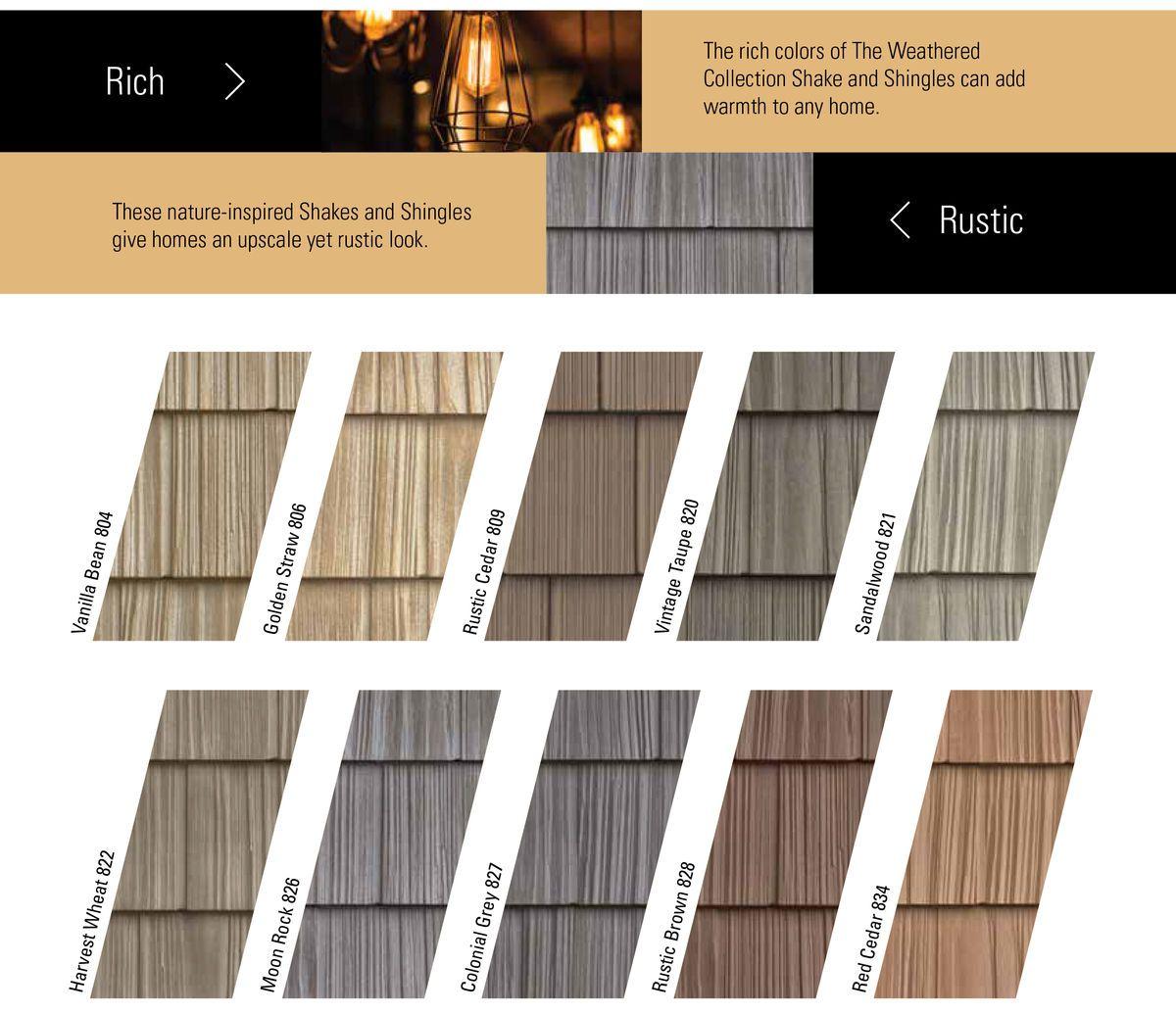 Color Program Foundry Specialty Siding Vinyl Siding Vinyl Shake Siding Shingling