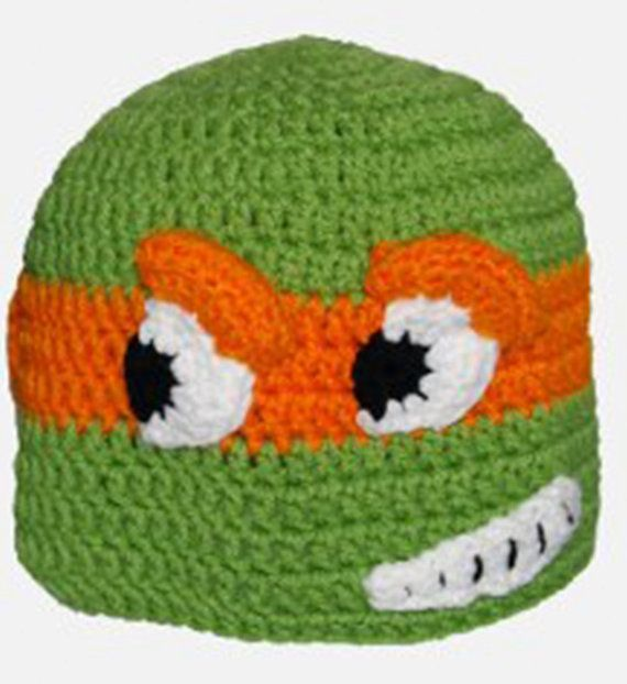 A Teenage Turtle Crochet PATTERN INSTANT DOWNLOAD Character Hat ...