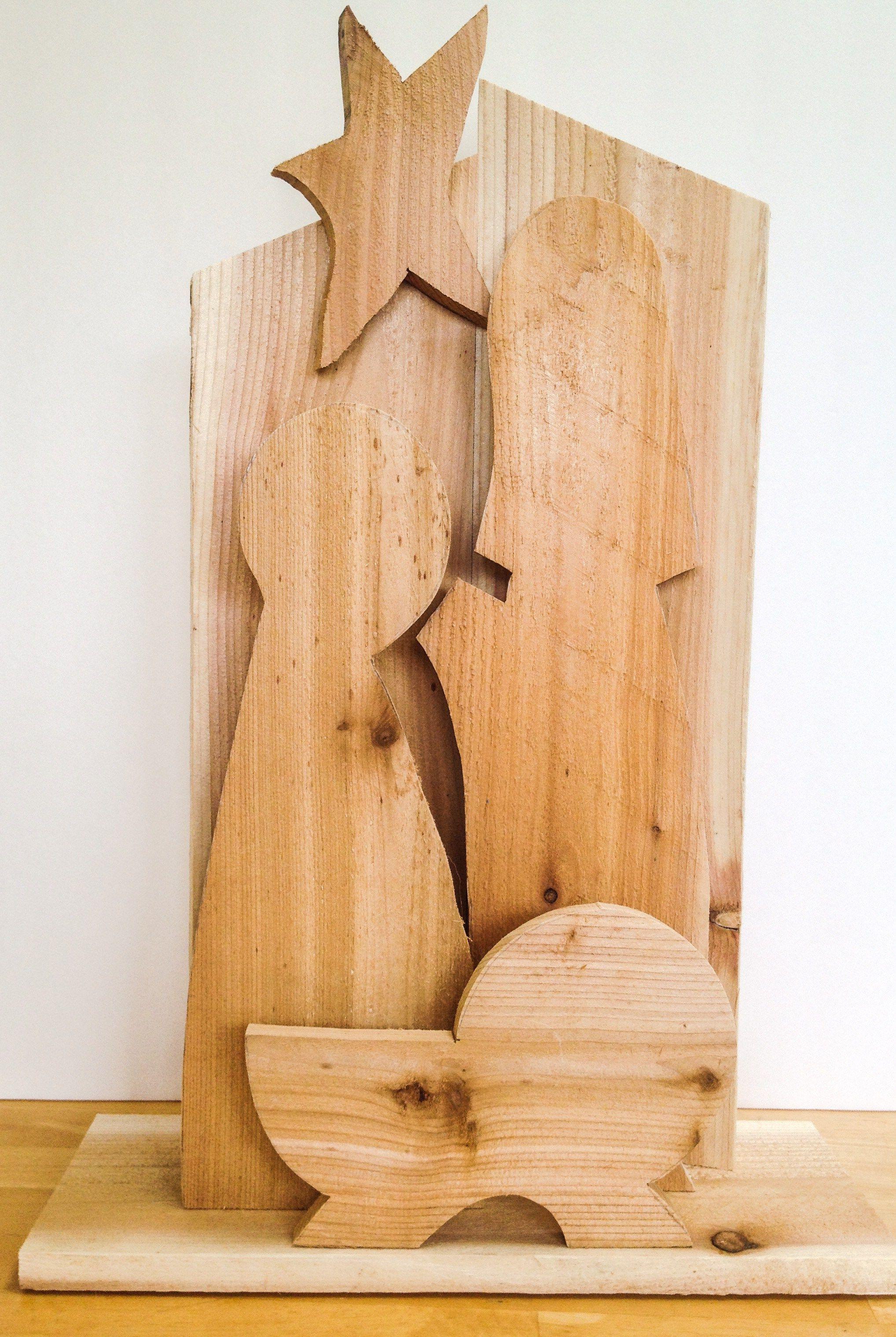 Diy Silhouette Wood Nativity