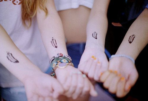 LOVE this for matching friendship tattoos/birds of a feather this ...