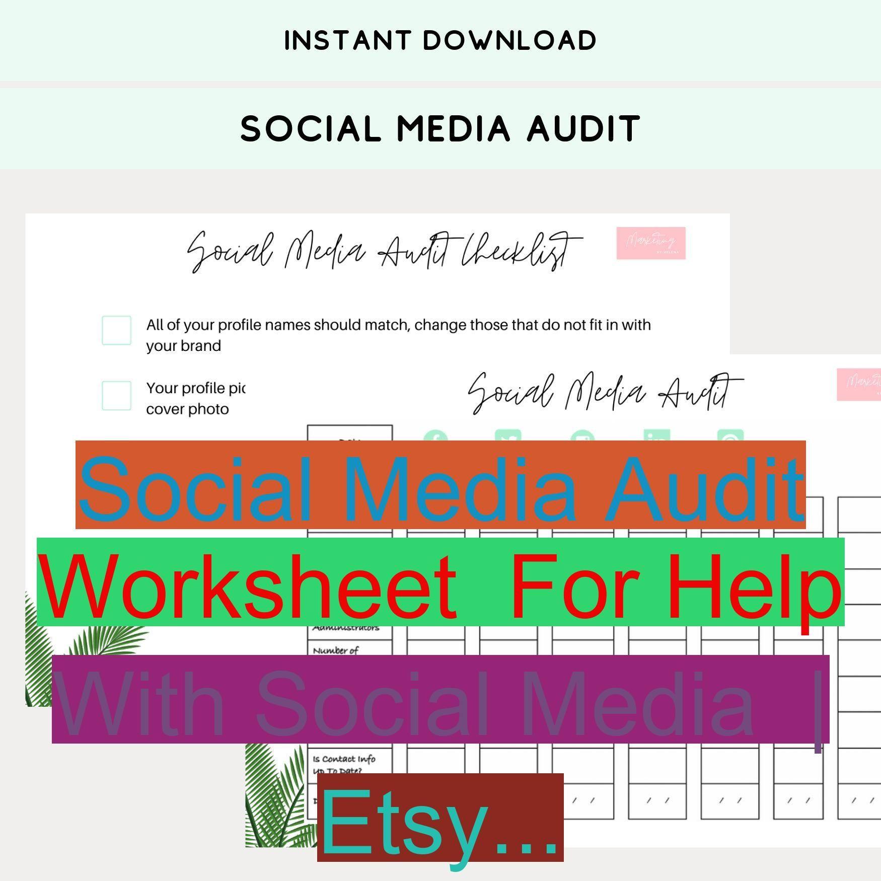 Social Media Audit Worksheet