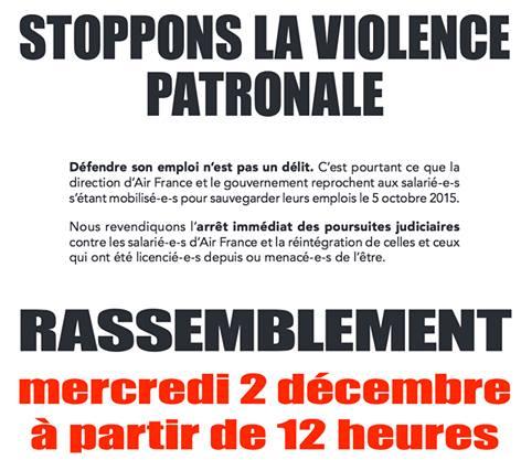 Air France, c'est demain au TGI de Bobigny. Message CGT Air France : Il reste encore quelques heures pour mobiliser autour de nous pour soutenir nos collègues et camarades ! ! Rappel : RDV 2 Décembre à 12h devant le Tribunal de Bobigny - 173 avenue Paul...