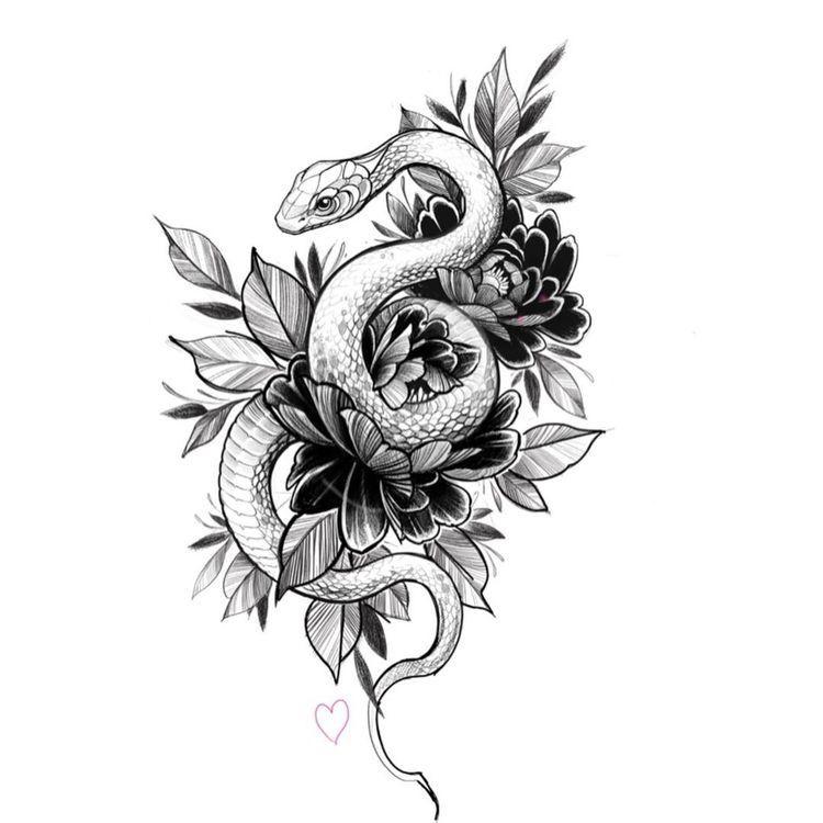 Dibujo Serpiente Tatuaje Tatuajes Serpientes Dibujo De
