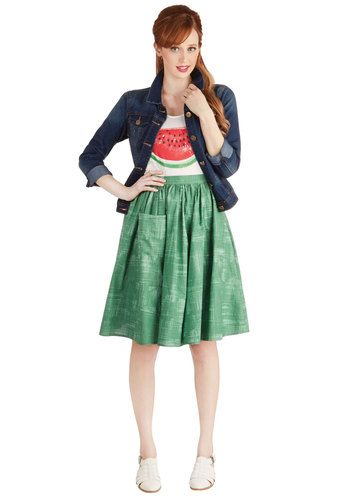 db8d8f8ea1ab1 Grass is Greenest Skirt by Bea   Dot - Cotton