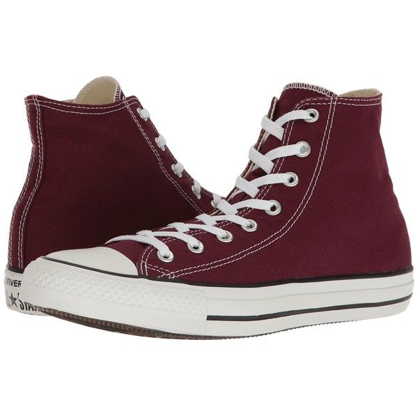 1c3fecd7ec0b Converse Chuck Taylor All Star Seasonal Color Hi (Burgundy) Lace up...  found on Polyvore featuring shoes