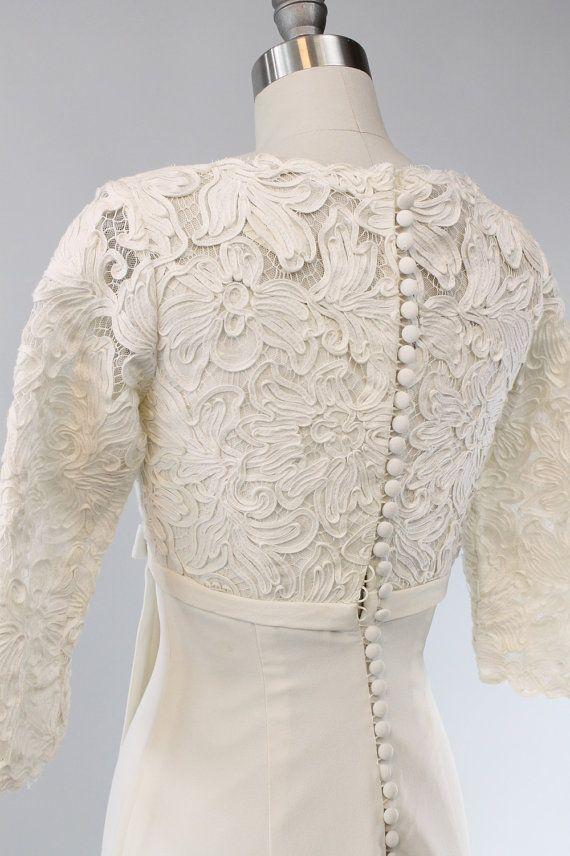 60s Ranshoffs Wedding Dress XS / 1960s Guipure by CrushVintage