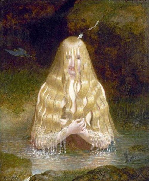 Ondine Jacques Laurent Agasse 1843 Illustration For Friedrich De La Motte Fouque S Undine Art Water Nymphs Nymph
