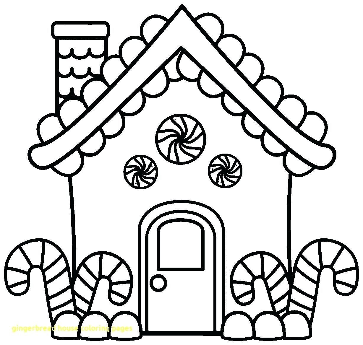 Gingerbread House Coloring Page New Blank Gingerbread ...