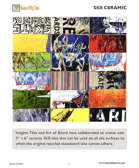 House Fifty Two Art Of Board Tile Collection Tile Art Modern Tiles Art