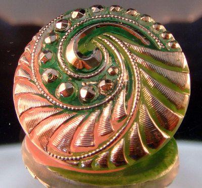 Czech Glass Button - 27mm on Etsy, $4.00