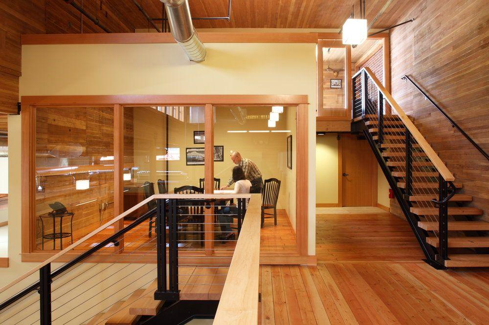 Fire Station 7 Bremik Construction Adaptive Reuse Office In Portland Or Exposed Mechanical Douglas Fir Flooring Hardwood Floors Installing Hardwood Floors
