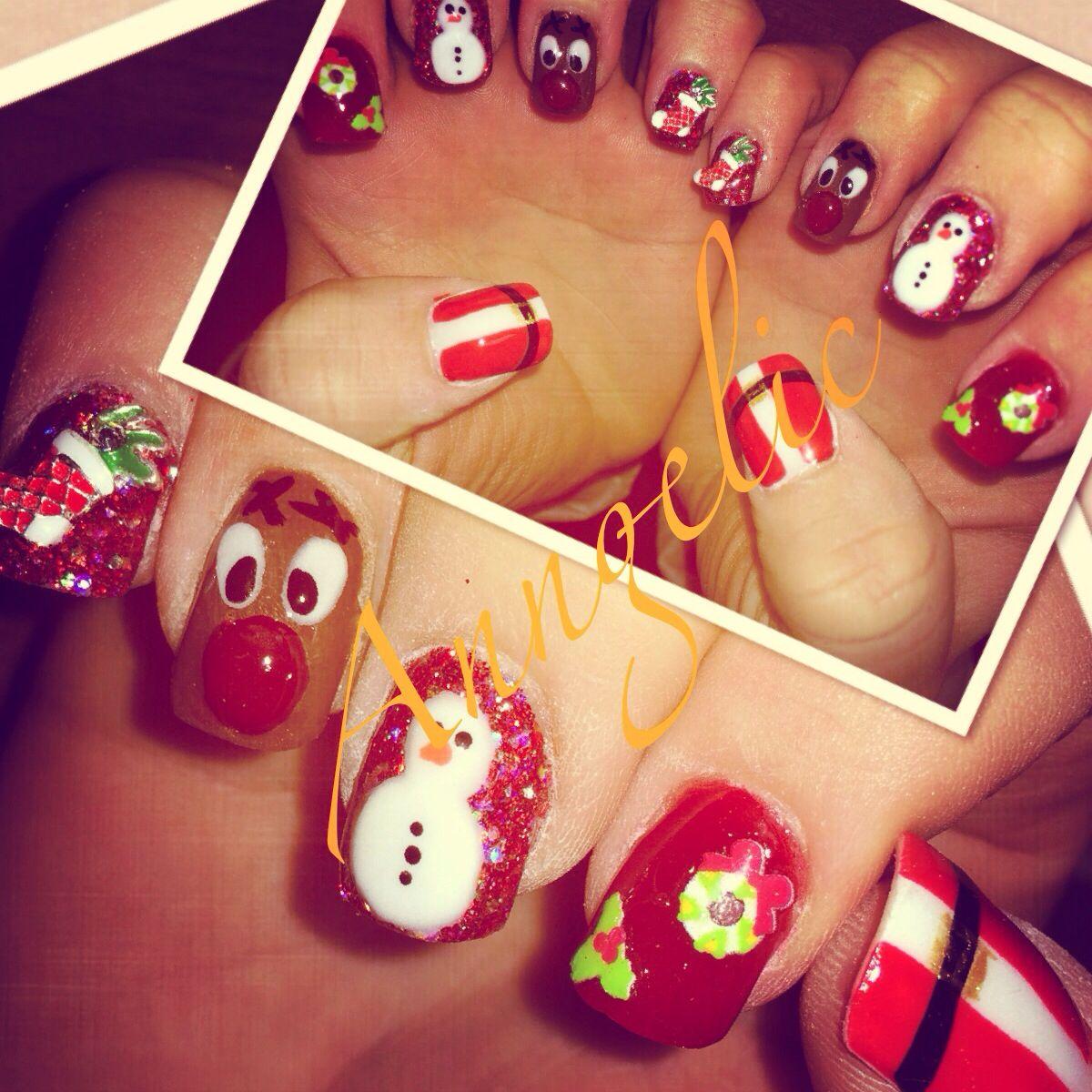Crazy Christmas Nails