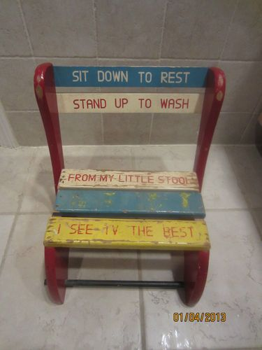Prime Vintage Kids Step Stool Childs Wood Bench Fold Up Chair Ocoug Best Dining Table And Chair Ideas Images Ocougorg