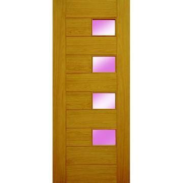 Image of Berlin Style External Oak Part L Door - Acid Etched Opaque Double Glazing  sc 1 st  Pinterest & Part L Berlin Style External Oak Door with Acid Etched Opaque ...