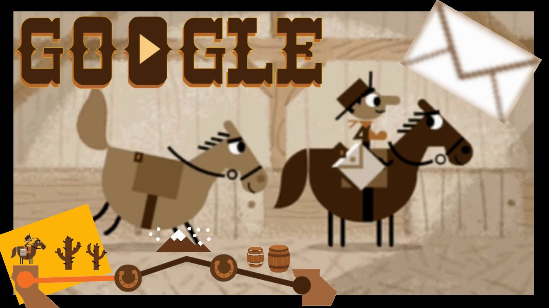 Google Pony Express All 100 Letters Delivered Complete Walkthrough Of The Google Doodle Game Doodles Games Google Doodle Games Google Doodles