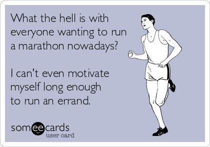 Why have we entered that half marathon Jessie??